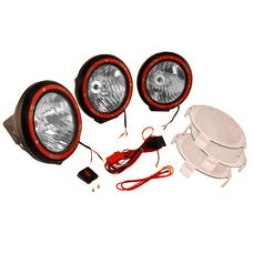 Rugged Ridge 15205.64 5 Inch Round HID Off Road Light Kit; Black Composite Housing; Set of 3