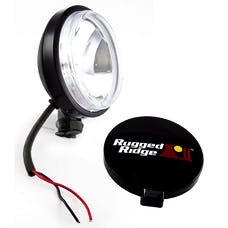 Rugged Ridge 15207.10 6 Inch Slim Halogen Light; Black Steel Housing