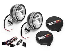 Rugged Ridge 15207.51 6 Inch Halogen Light Kit; Black Steel Housings; Pair