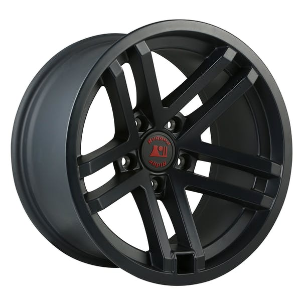 Rugged Ridge 15303.90 Jesse Spade Wheel; 17x9; Black Satin; 07-17 Jeep Wrangler JK
