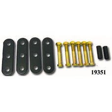 Rugged Ridge 18265.01 HD Front and Rear Leaf Spring Shackles; 55-75 Jeep CJ Models