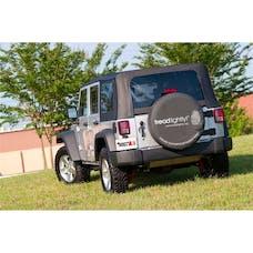 Rugged Ridge TL-12803.35 Tire Cover; Black; 33 Inch; Tread Lightly Edition