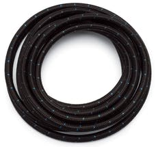 Russell 632173 # 10 Black Cloth Hose  Blue Tracer  10ft length