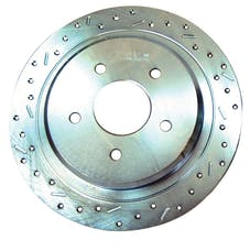 Stainless Steel Brakes 23792AA3L rtr drld sltd zp frnt 2005-06 Mustang exc. GT lh