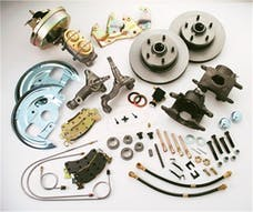 Stainless Steel Brakes A123-1 Front drm/dsc conv kit 64+GM power