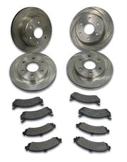 Stainless Steel Brakes A2351022 Short Stop 4 whl 00s GM 1/2t w/OE 2-pis