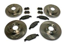 Stainless Steel Brakes A2370043 Short Stop 4 Wheel Kit 07-08 Wrangler