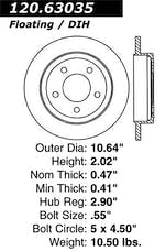 StopTech 126.63035SL Sport Slotted Rotor, Left