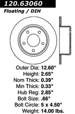 StopTech 126.63060SR Sport Slotted Rotor, Right