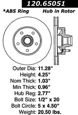 StopTech 127.65051R Sport Drilled & Slotted Rotor, Right