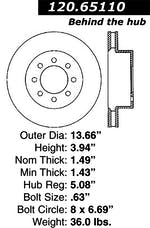 StopTech 126.65110SL Sport Slotted Rotor, Left