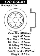 StopTech 126.66041SL Sport Slotted Rotor, Left