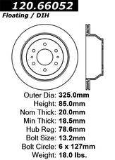 StopTech 126.66052SR Sport Slotted Rotor, Right