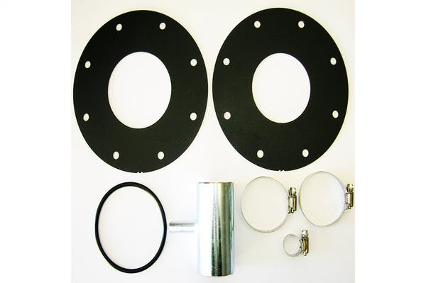 TITAN Fuel Tanks 0101310 LB7 Kit  include two heavy duty hose clamps & one double-tee adapter