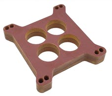"""Trans Dapt Performance 2447 1"""" HOLLEY/AFB 4BBL SPACER - Ported with PCV- Canvas Phenolic Carburetor Spacer"""