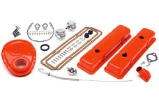 Trans Dapt Performance 3051 1958-86 SB CHEVROLET 283-350 ENGINE KIT WITH PCV- CHEVY ORANGE POWDER-COATED