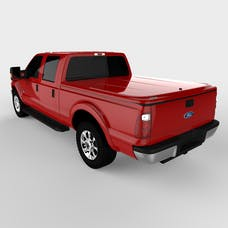 UnderCover UC2126L-RR LUX Tonneau Cover Ruby Red w/Tailgate Step