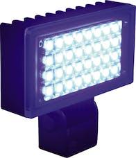 "Vision X 9121185 3.4"" X 1.9"" Utility Flood Black 32 Blue LEDs"