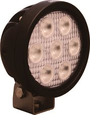 """Vision X 9121451 4"""" Round Utility Market Black 7 3W Amber Led'S 40° Wide"""