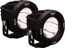 Vision X 9141251 Optimus Series Prime Round Black 1 10w LED 10° Narrow Kit Of 2 Lights