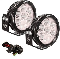 "Vision X 1236216 Pair 6.7"" Cannon Adventure Halo 8 LED Light Mixed Beam with Harness"