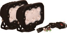 Vision X 9891309 Kit Of 2 Duralux Work Light 6 LED 10 Degree with Harness
