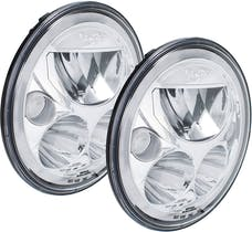 """Vision X 9917566 Pair Amber Halo 7"""" Round Vx LED Headlight with Low-High-Halo"""