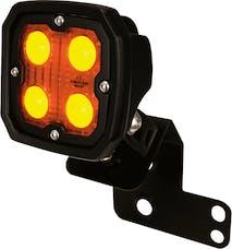 Vision X 6052084 Single Left 2/4 Seat RZR D Pillar Mount And Dura 4 Amber 40 Degree Light Kit,