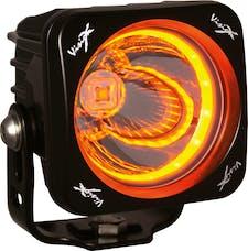 "Vision X 9907178 3.0"" Optimus Amber Halo Series Prime Black 10-Watt Led Light 15 Degree Beam"