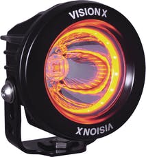 "Vision X 9907185 3.0"" Optimus Amber Halo Series Prime Black 10-Watt LED Light 15 Degree Beam"