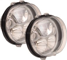 """Vision X 9918532 Two 5.75"""" Oval Amber Halo VX Led Headlight with Low-High-Halo"""