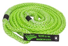 """VooDoo Offroad 1300001 7/8"""" x 20' Truck/Jeep Kinetic Recovery Rope, Green, with rope bag"""