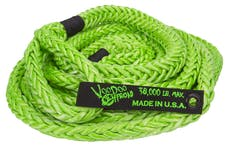 """VooDoo Offroad 1300002 7/8"""" x 30' Truck/Jeep Kinetic Recovery Rope, Green, with rope bag"""