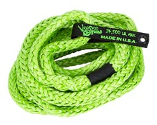 """VooDoo Offroad 1300009 3/4"""" x 30' Truck/Jeep Kinetic Recovery Rope, Green, with rope bag"""