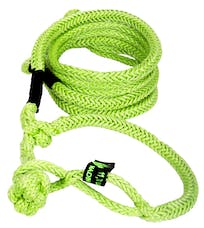 """VooDoo Offroad 1300010 1/2"""" x 10' UTV Kinetic Recovery Rope with (2) Soft Shackle Ends, Green"""