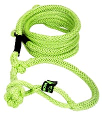 """VooDoo Offroad 1300012 1/2"""" x 20' UTV Kinetic Recovery Rope with (2) Soft Shackle Ends, Green"""