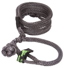 """VooDoo Offroad 1300018 1/2"""" x 10' UTV Kinetic Recovery Rope with (2) Soft Shackle Ends, Black"""