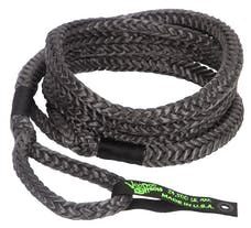 """VooDoo Offroad 1300021 3/4"""" x 20' Truck/Jeep Kinetic Recovery Rope, Black, with rope bag"""