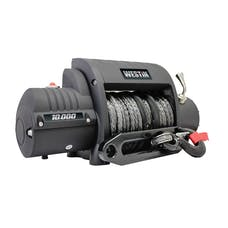 WESTiN Automotive 47-2200 10;000 lb. 6.6hp; 12V Off-Road series Integrated winch with 3/8 inch synthetic r