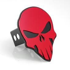 AMI Styling 1042RK Skull Style Red on Black Hitch Cover