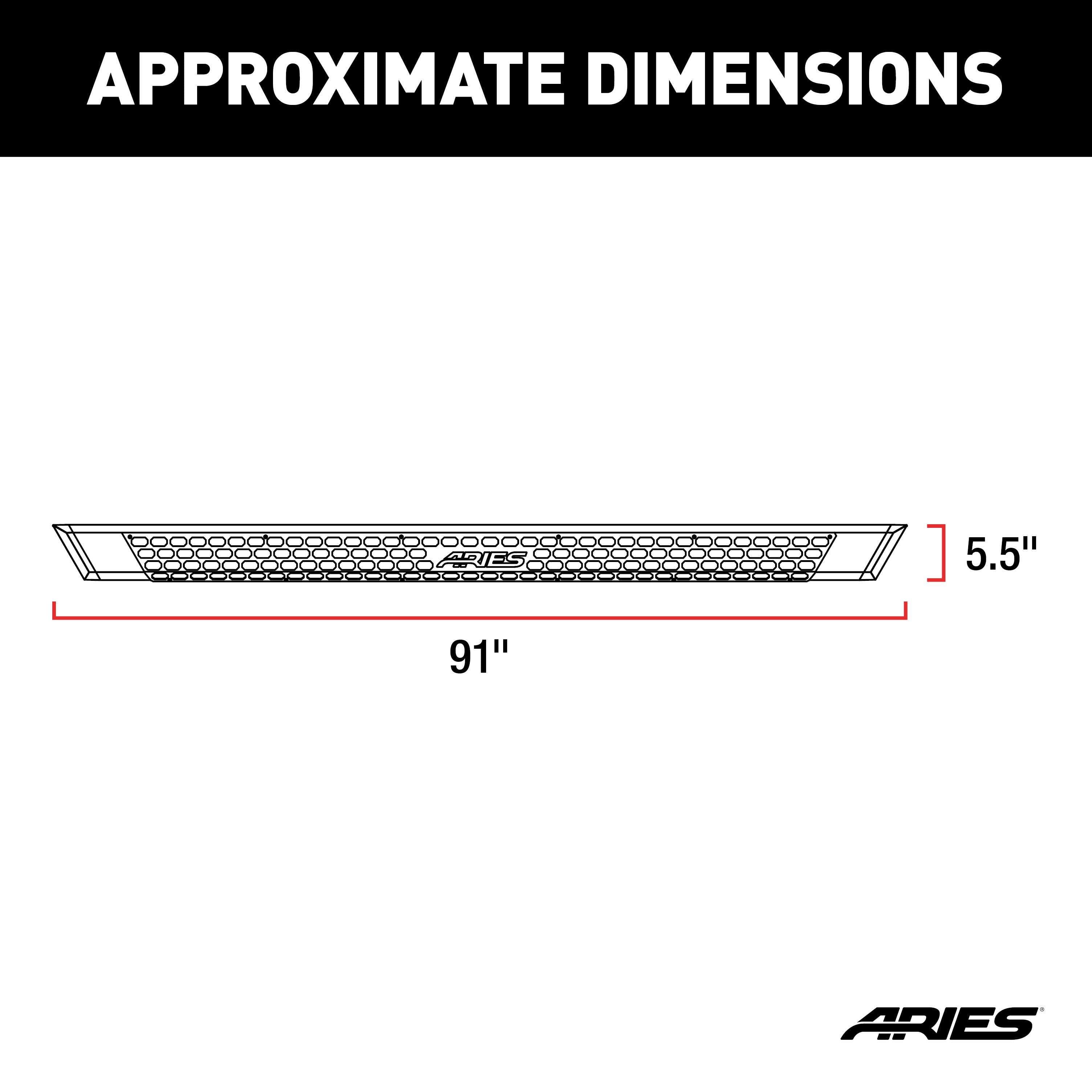 with Brackets,AdvantEDGE ARIES 2556026 5.5 Side Bar