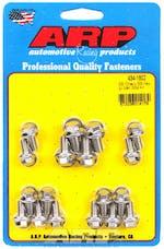ARP 434-1802 Stainless Steel hex oil pan bolt kit