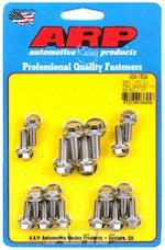 ARP 434-1804 1-pc Stainless Steel hex oil pan gasket bolt kit