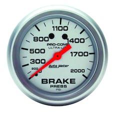 AutoMeter Products 4426 Gauge; Brake Pressure; 2 5/8in.; 2000psi; Mechanical; Ultra-Lite