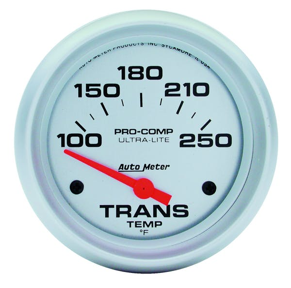 AutoMeter Products 4457 Gauge; Transmission Temp; 2 5/8in.; 100-250deg.F; Electric; Ultra-Lite
