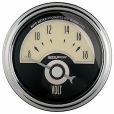 "AutoMeter Products 1191 2-1/16"" VOLTMETER, 8-18V, SSE, Cruiser AD"