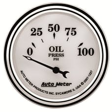 AutoMeter Products 1227 Old Tyme White II Oil Pressure Gauge