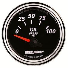 AutoMeter Products 1228 Designer Black II 2-1/16in Oil Press SSE 0-100 psi