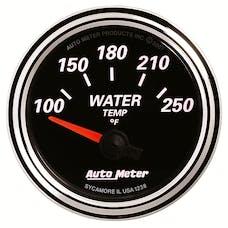 AutoMeter Products 1238 GAUGE; WATER TEMP; 2 1/16in.; 250deg.F; ELEC; DESIGNER BLACK II