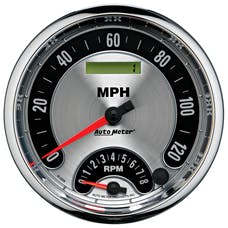 AutoMeter Products 1295 GAUGE; TACH/SPEEDO; 5in.; 160MPH/8K RPM; ELEC. PROGRAM.; AMER. MUSCLE
